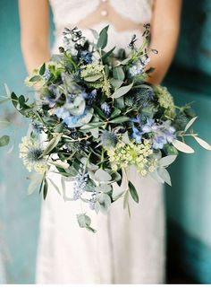 Land and Water - Wedding Inspirations in Blues by Live View Studios - . - Land and Water – Wedding Inspirations in Blues by Live View Studios – - Blue Bouquet, Flower Bouquet Wedding, Bouquet Flowers, Thistle Bouquet, Wild Flower Wedding, Bridal Bouquets, Bouquet Photography, Wedding Photography, Bohemian Photography