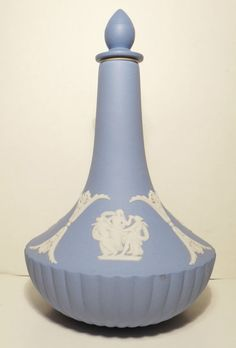 Wedgwood Jasperware Perfume Bottle Container.5 1/2 inches tall.