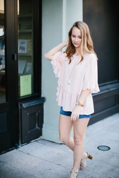 Everyone needs a pink ruffle top that is this versatile in their closet. This top I have worn so many different ways, and I love that it's work appropriate while being so flirty and trendy. Versatile, yet on-trend pieces are a staple for your closet.