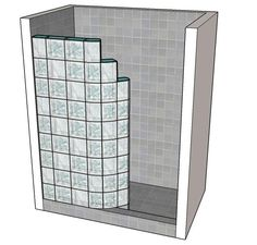 how to make a glass block shower wall Bathroom Renos, Bathroom Layout, Bathroom Renovations, Small Bathroom, Bathroom Ideas, Glass Block Installation, Glass Blocks Wall, Block Wall, Glass Block Shower
