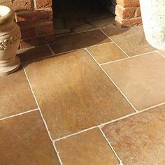 Sample of Terracotta Limestone Floor Tiles, Opus Pattern | eBay