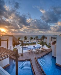 Azul Beach Hotel by Karisma, a boutique-style hotel perfect for an intimate wedding. #destinationwedding #Mexico