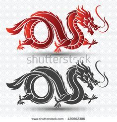Find Illustration Traditional Chinese Dragon Vector Illustration stock images in HD and millions of other royalty-free stock photos, illustrations and vectors in the Shutterstock collection. Chinese Dragon Drawing, Chinese Dragon Tattoos, Temple Logo, Dragons, Lantern Craft, Dragon Illustration, Dragon Art, Logo Dragon, Chinese Cartoon