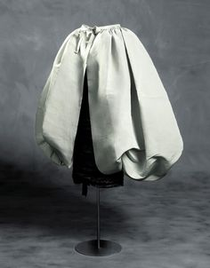 Dress in gros de Naples with transparent, machine-made tulle and gros de Naples overskirt, 1956 | Cristóbal Balenciaga (Spanish, 1895-1972) | The overskirt can be worn in two ways, either at the waist as an overskirt, or fitting it to the neck, like a puffed cape | Museo Cristóbal Balenciaga, Getaria, Spain