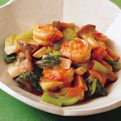レタスクラブの簡単料理レシピ 程よい辛さがうまさを引き立てる「野菜たっぷりえびのチリソース」のレシピです。