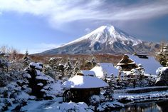 Winter view of japan