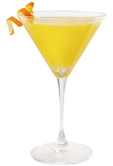 SKYY Palm Beach Sunset Martini (1 1/2 oz SKYY Vodka 1 oz amaretto liqueur 4 oz orange juice Splash of grenadine)