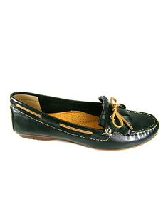 Another great find on #zulily! Black & Amber Rebecca Leather Loafer #zulilyfinds