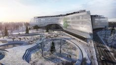 beating out proposals submitted by foster partners and fuksas, the facility will be be home to the IT laboratories and campuses for russia's sberbank.