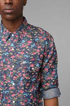 Salt Valley Smoky Floral Western Shirt - Urban Outfitters