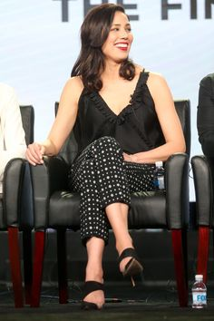 Michaela Conlin Photos Photos - Actress Michaela Conlin of the television show 'Bones' speaks onstage during the FOX portion of the 2017 Winter Television Critics Association Press Tour at Langham Hotel on January 11, 2017 in Pasadena, California. - 2017 Winter TCA Tour - Day 7