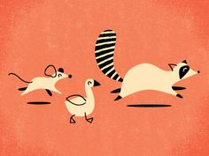 Tanooki2 #racoon #illustration