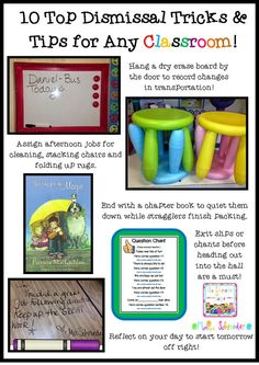 10 easy and fun dismissal tips and trick to help any classroom get out the door with ease!