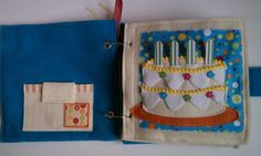 quiet book birthday cake