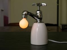 Dimmable lamp controlled by antiquestyle faucet by napkn4sale