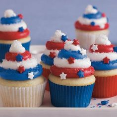 Recipe for Red, White and Blue Cupcakes