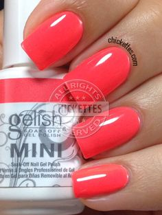 Chickettes.com Gelish Rockin' The Reef from the Gelish Colors of Paradise Collection #Gelish #gelpolish