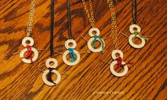 snowman crochet ring necklaces