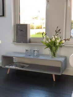 Beton Sideboard Mit Holzbeinen