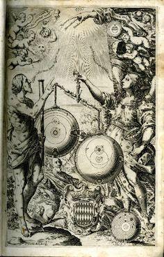 Almagestum novum, frontispiece, 1651