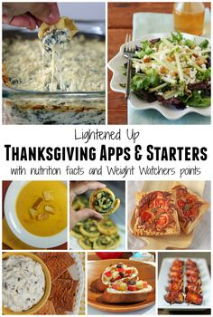 Lightened Up Thanksgiving Appetizers with nutrition facts and Weight Watchers points! www.emilybites.com