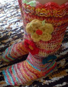 Pitkät sukat jämälangoista