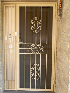 Clients' safety is our priority all time. So, Multifit offers security doors with Australian benchmark standards. Home Stairs Design, Balcony Design, Door Design, Security Doors, Security Screen, Iron Gates, Iron Doors, Net Door, House Stairs