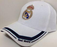 26% OFF  White Real Madrid C.F. Hat Cap Curved Bill Adjustable Blue Border