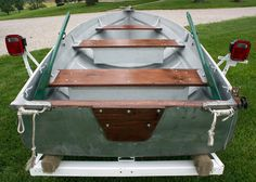 I just got this boat. The same one I rowed as a kid. Aluminum Fishing Boats, John Boats, Tiny Boat, Boat Restoration, Boat Seats, Boat Projects, Vintage Boats, Gone Fishing, Bowrider