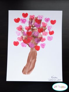 Love blossom tree for Valentines craft