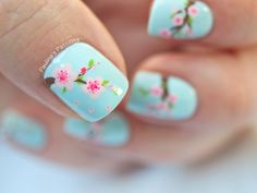Spring Nails - Cherry Blossom