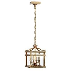 Visual Comfort Chart House by E. F. Chapman Mykonos Mini Lantern in Gilded Iron CHC 2190GI