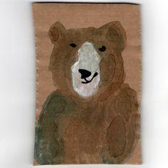 For the Jenkinsons in Sonning. Daddy bear. #racheljenkinson #cardbord #bear