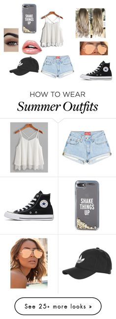 """Cute Summer Outfit"" by onsurez on Polyvore featuring Quay, Converse, Kate Spade and adidas"
