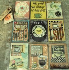 Coffee themed pocket letter by artchick501