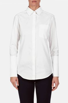 (Cuffs are especially gorgeous?) Protagonist — Shirt 01, Shirting White — THE LINE