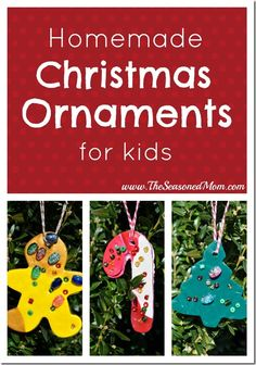 Homemade Christmas Ornaments for Kids  www.TheSeasonedMom.com