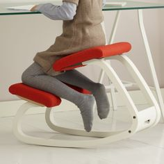 Variable™ Balans® swing stool for desk by Variér equipped with spacers