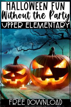 Plan a fun Halloween at school! In the post, you'll find ideas, activities and more without having a party in upper elementary! These fun and engaging Halloween activities will have your students learning without the craziness of a party! Fun Halloween Activities, Halloween Fun, Elementary Math, Upper Elementary, Student Learning, Fun Learning, Help Teaching, Teaching Resources, Math Websites