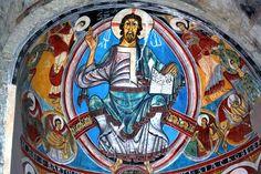 Pantocrator de Sant Climent de Taüll; la pintura original está en el Museo de Arte de Cataluña