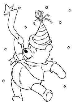 Winnie The Pooh Happy New Year Coloring Pages New Year Coloring Pages, Colouring Pages, Coloring Pages For Kids, Disney Colors, New Year Celebration, Printed Pages, Classic Literature, Christmas And New Year, Colorful Pictures