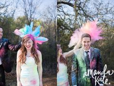 Trash the dress with Holi Powder.     www.facebook.com/amandakatephotography    www.instagram.com/amanda_kate    info@amandakatephotography.com