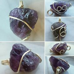Available at thewingedwire.etsy.com Simple amethyst pendant.