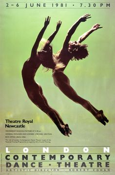 Poster for London Contemporary Dance Theatre, photograph by Anthony Crickmay, England, 1981