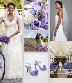 My dream purple white and green wedding