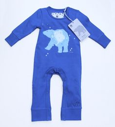 WWF Polar Bear baby Romper for boys Animal Tails, Star Constellations, Bear T Shirt, Ethical Fashion, Polar Bear, Cubs, Wetsuit, Rompers, North Pole