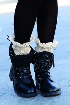 Boot Cuffs - Available in Black, Navy, Light Mustard, Gray and Cream. - On Sale for $10 (was $14)