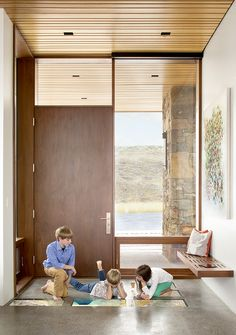 Steve Conine, a software engineer, installed and programmed many of the details himself, like the Dell UltraSharp flat-screen panels inlaid into the entryway of the home.