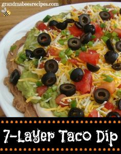 7-Layer Taco Dip - This will be one of our SUPERBOWL snacks for sure!