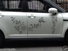 Car Decal Vinyl Graphics Side stickers Body Decals Flowers butterrfly #1016